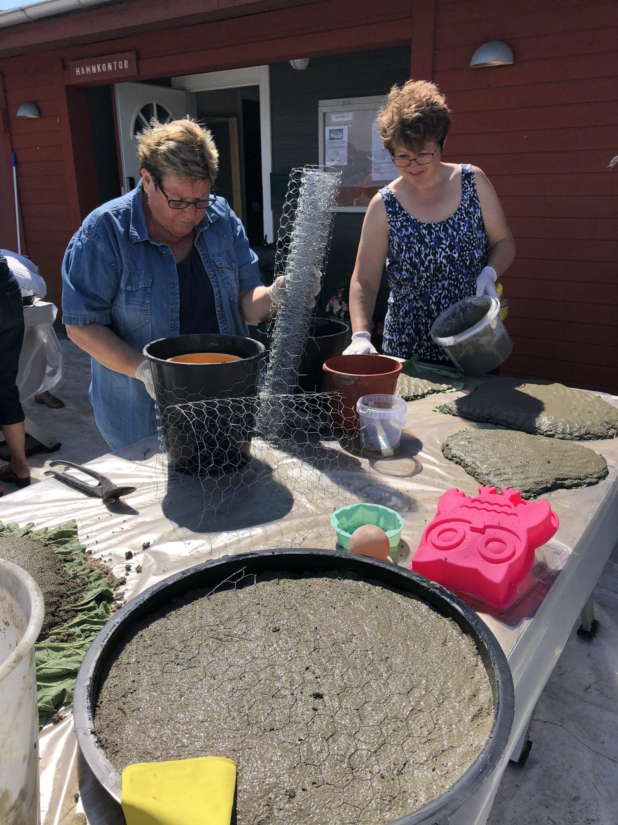 Fantastisk dag med betonggjutning i Västra Näs hamn